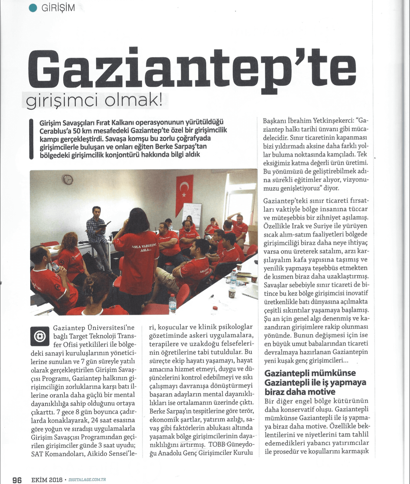 Gaziantep'te Girişimci Olmak